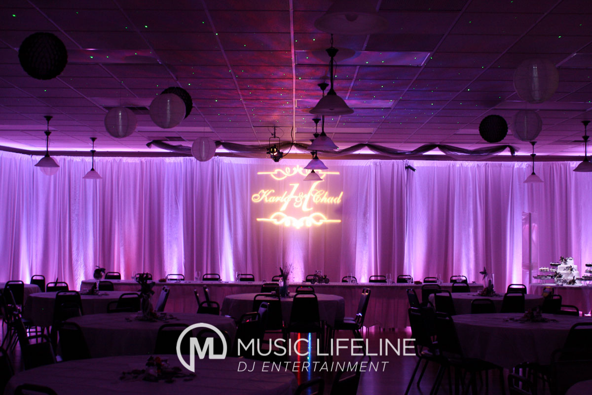 Monogram + Uplighting