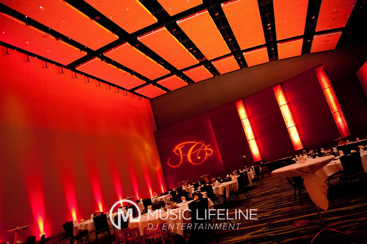 Uplighting + Monogram