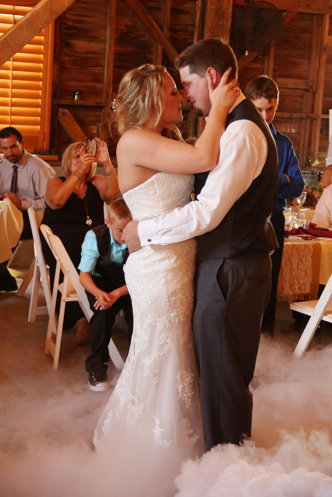 Dancing on the Clouds At Avon Wedding Barn an Exclusive offering from Music Life Line Wedding DJs